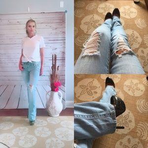 Vintage Mudd Distressed Jeans High Waist